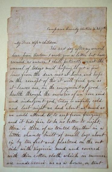 This letter is dated Feb. 17, 1864, from Brandy Station in Virginia.